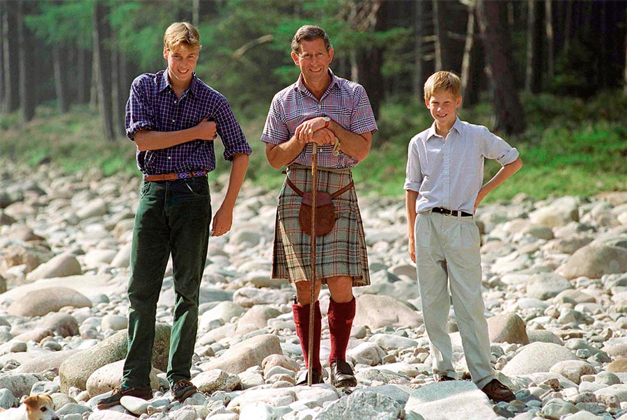 7 photos of the royals wearing kilts to celebrate Burns Night