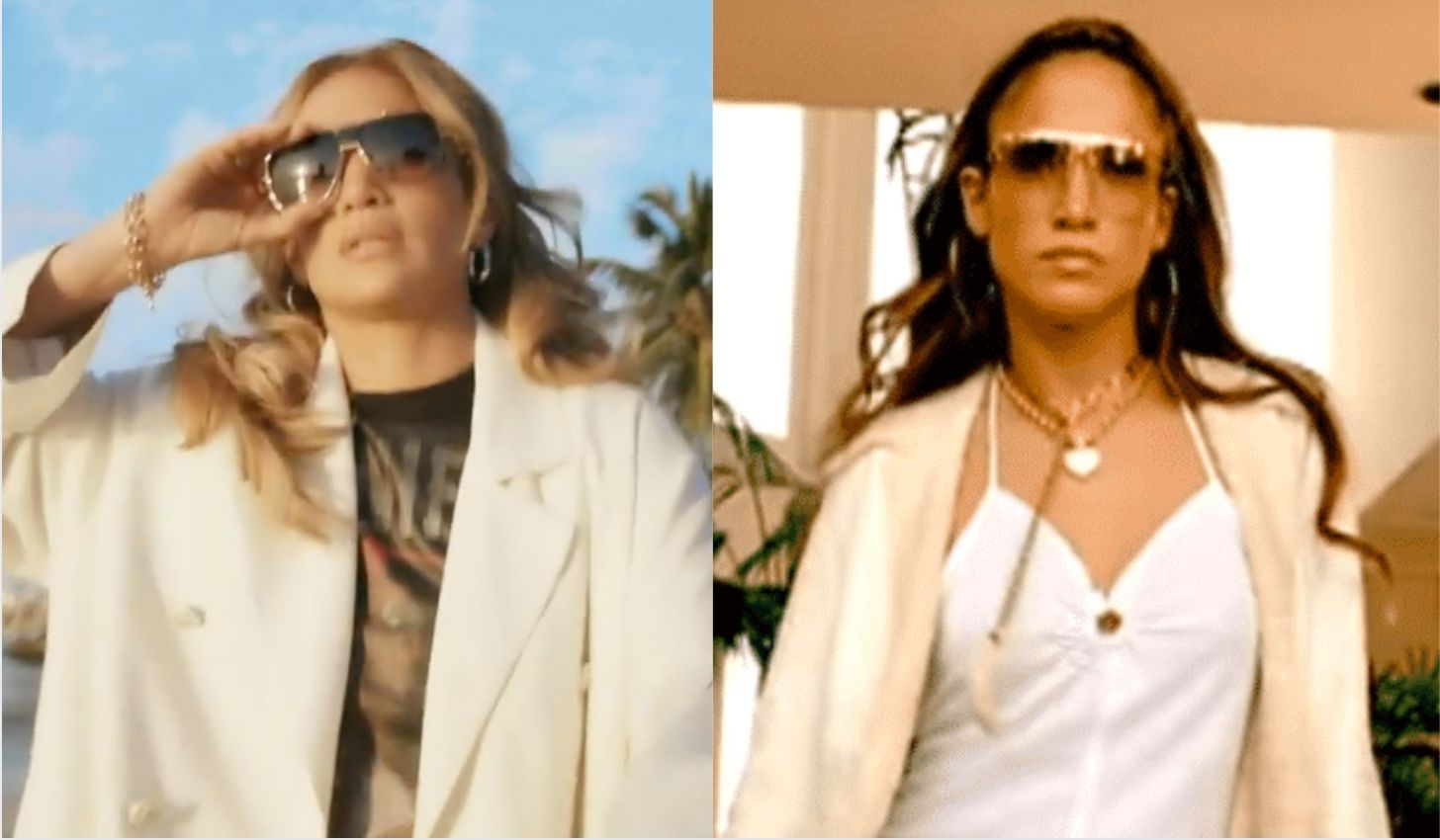 Jennifer lopez recreates 'love don't cost a thing' music video 20 years later