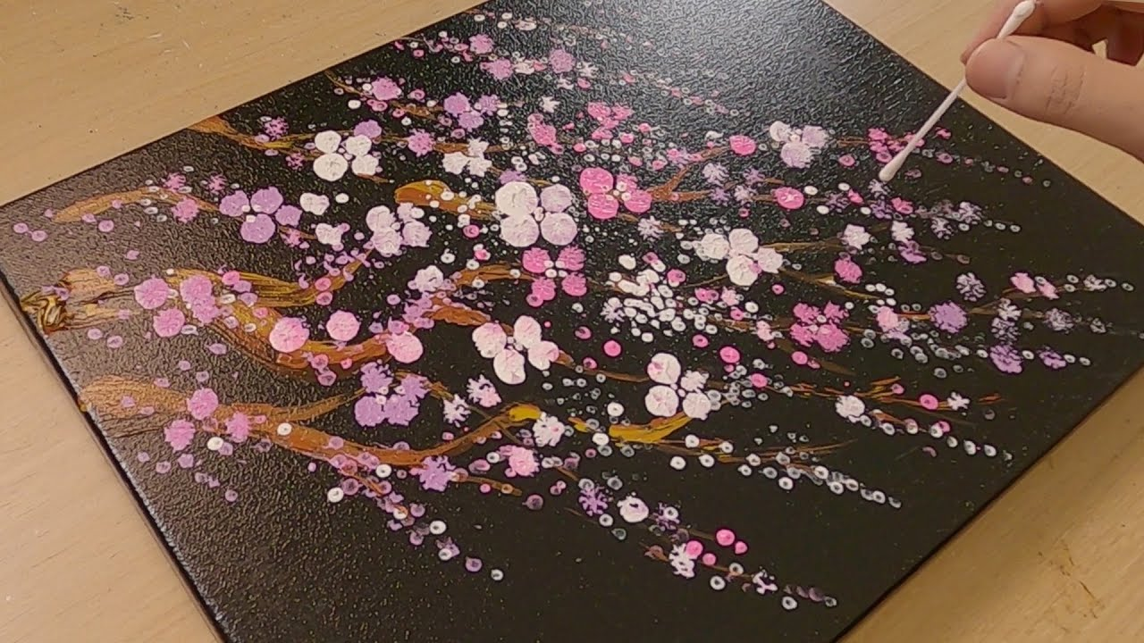 Cherry blossom tree painting / Special creative art / Acrylic Painting