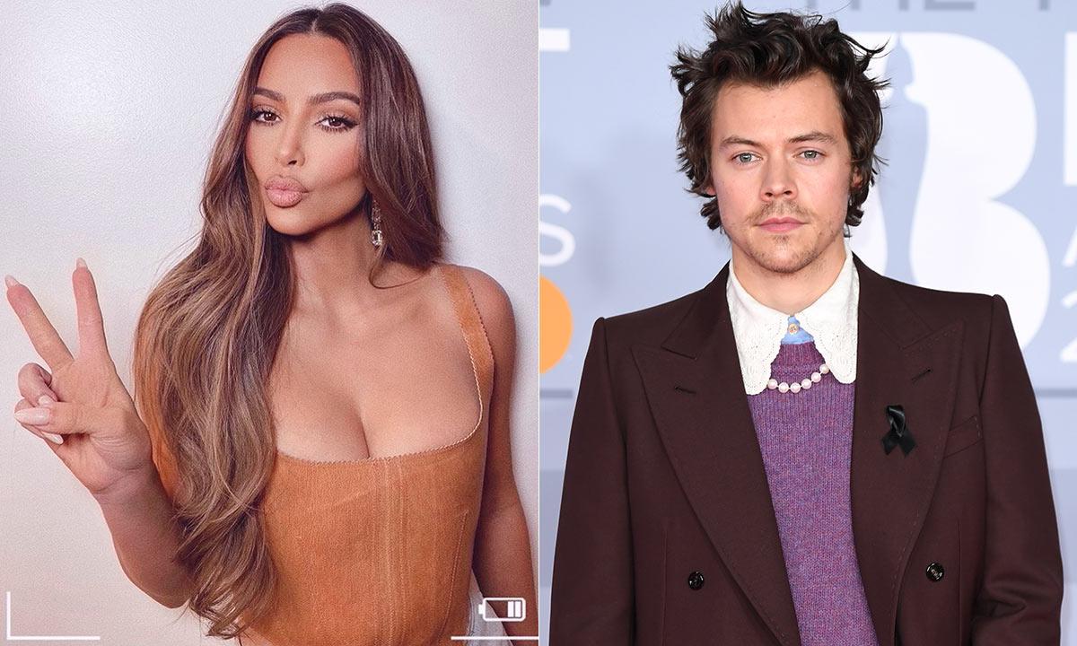 Harry Styles' 'background' appearance on Kim Kardashian's teary video gets fans talking