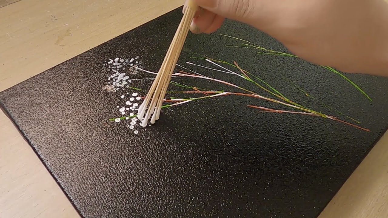 Baby's Breath Painting / Medical Swab Painting Technique (Easy & Simple)