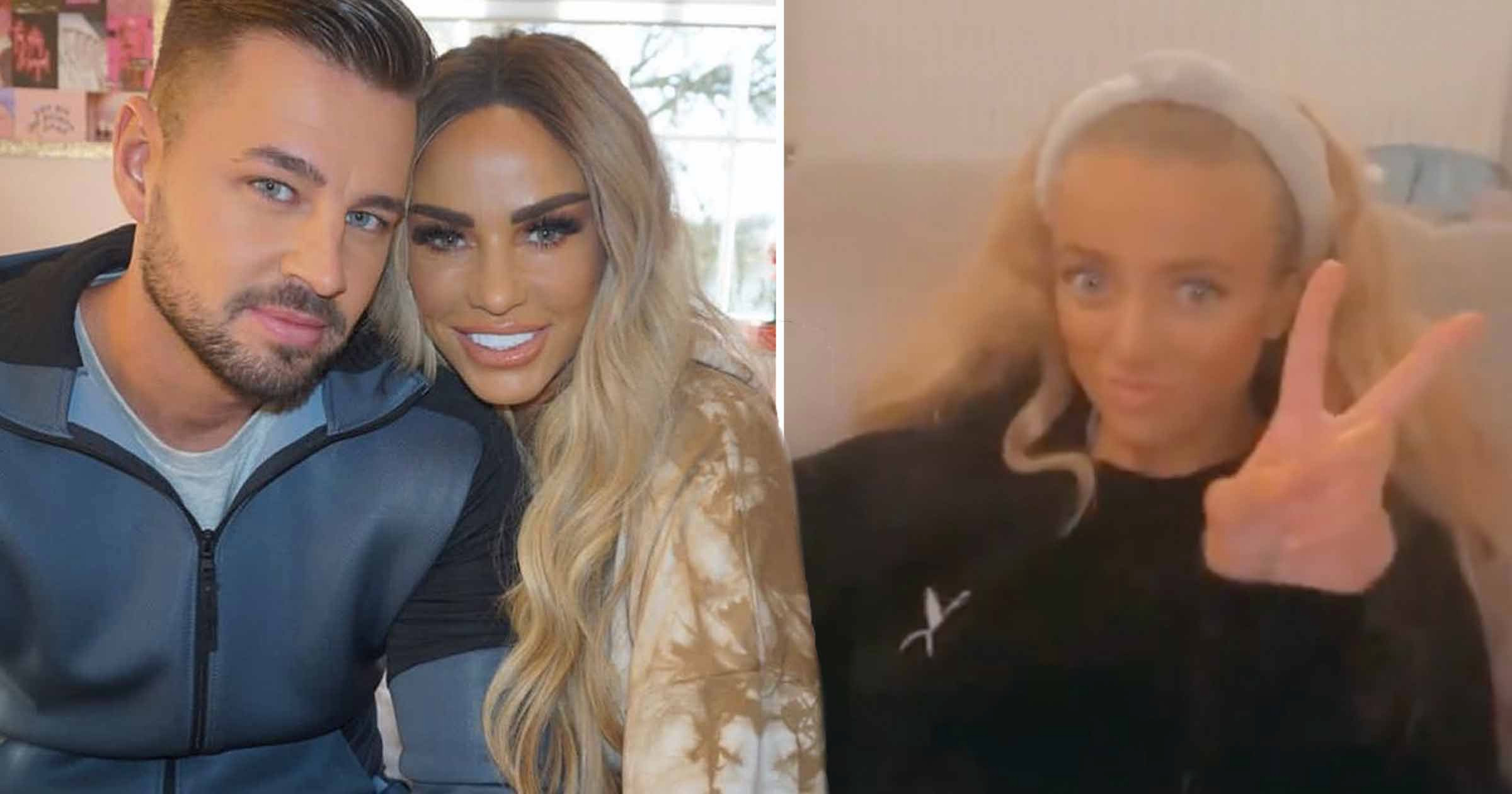 Katie Price enjoys cosy evening with boyfriend Carl Woods and fake tans with daughter Princess