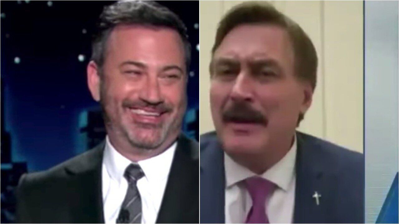Jimmy kimmel has a damning theory about mypillow Guy's crazy conspiracies