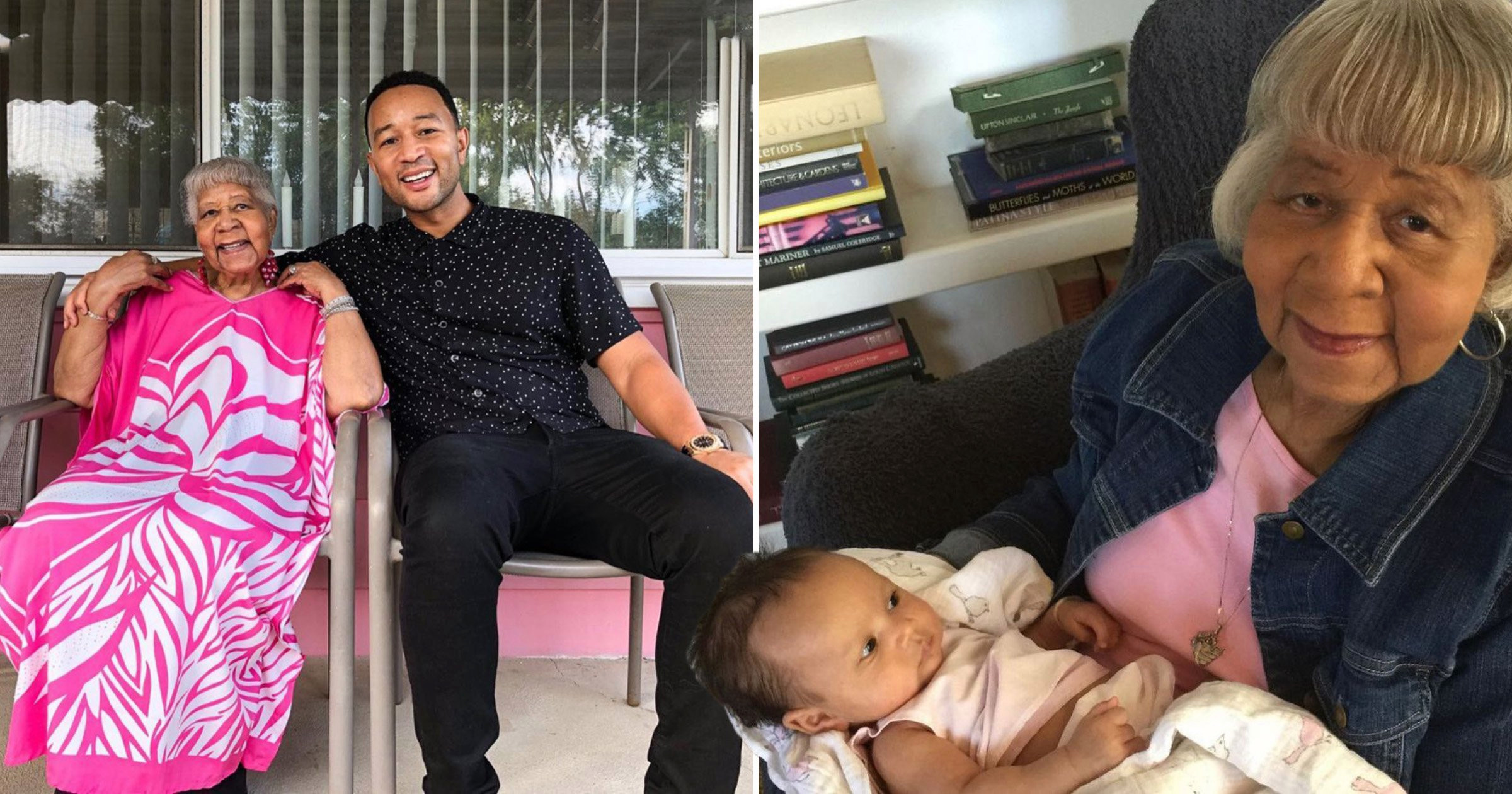 John Legend pays tribute to 'caring and conscientious' grandmother after her death aged 91