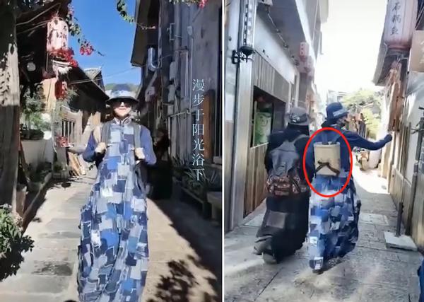 62岁杨丽萍背竹篓逛街 胳膊瘦到像枯枝 曾被曝摘两根肋骨