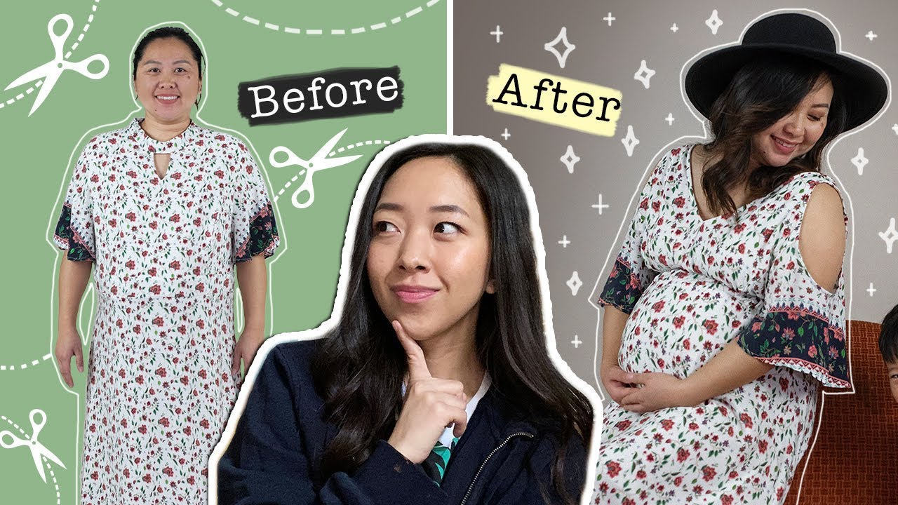 [DIY] Turn An Old Dress Into A Cute Maternity Dress | Sewing with @coolirpa