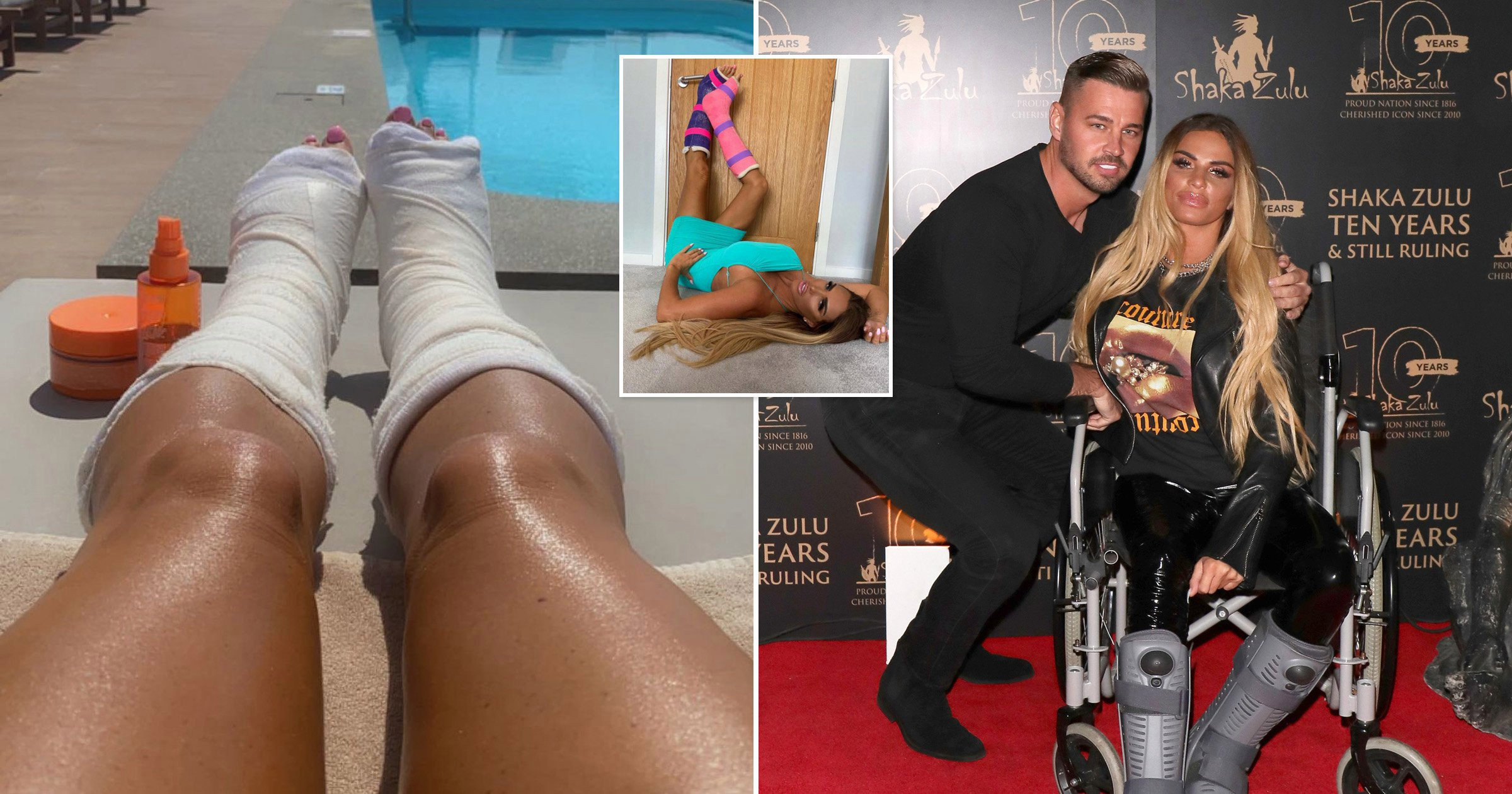 Katie Price reveals she's 'disabled for life and waddles like a duck' after breaking both feet