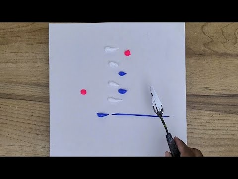 Easy Abstract Landscape Painting / Step By Step For Beginners / 365 Days Challenge / Day #151