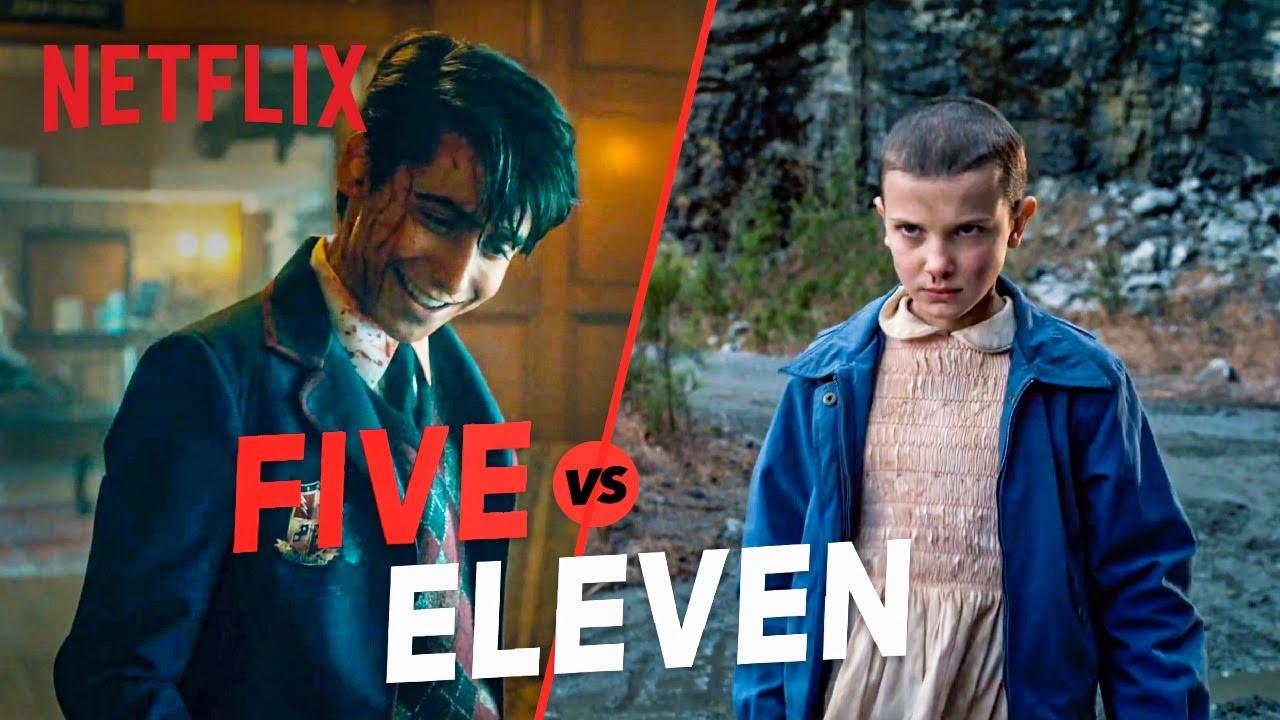 Five vs. Eleven | The Umbrella Academy & Stranger Things Kid Showdown | Netflix