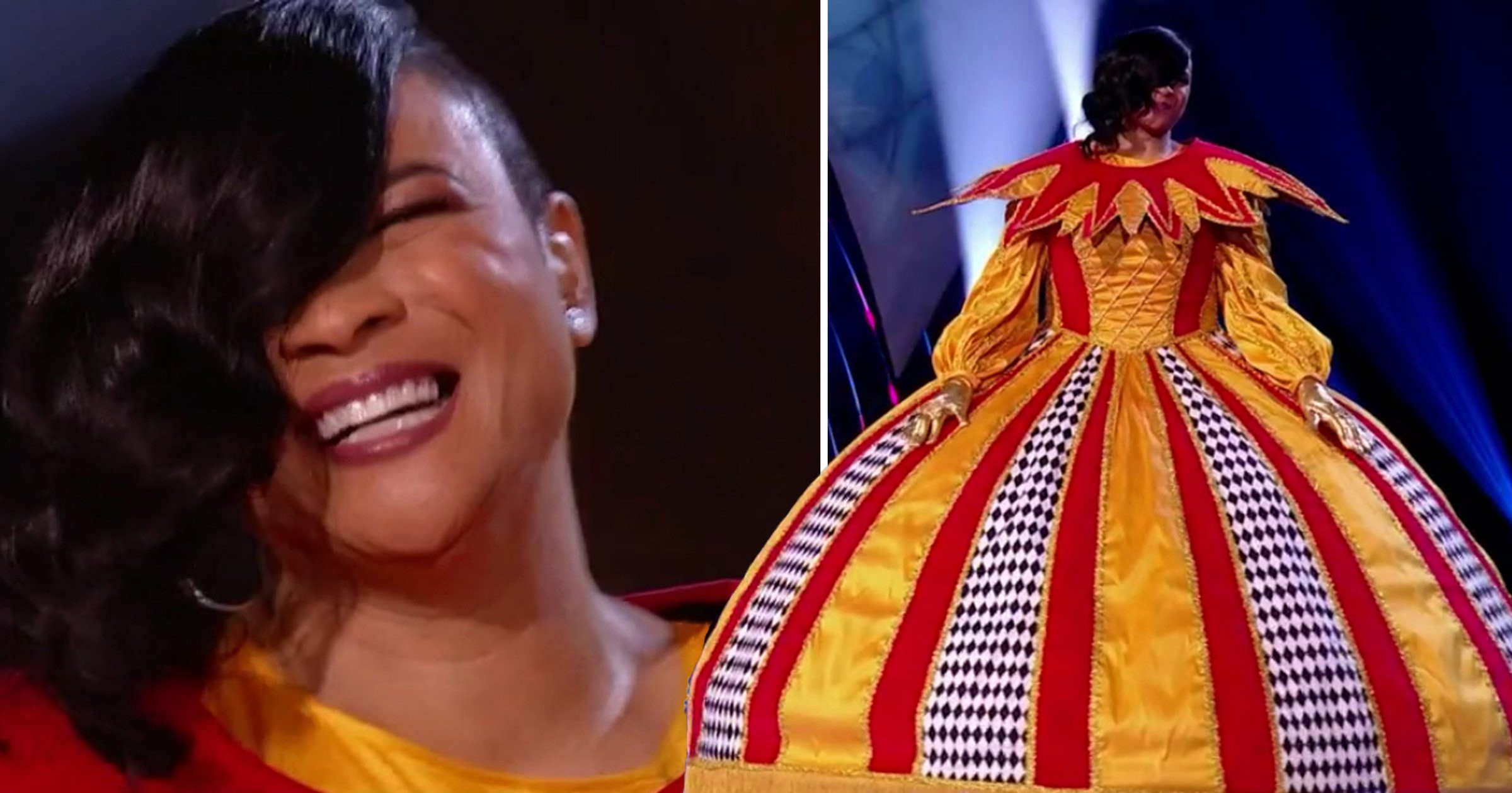 The Masked Singer's Gabrielle had panic attacks in the Harlequin costume: 'Giving birth was easier'