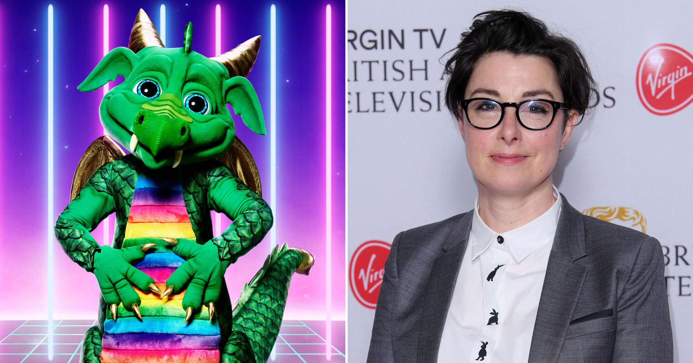 The Masked Singer: Sue Perkins 'perfect for charity single' after being revealed as Dragon