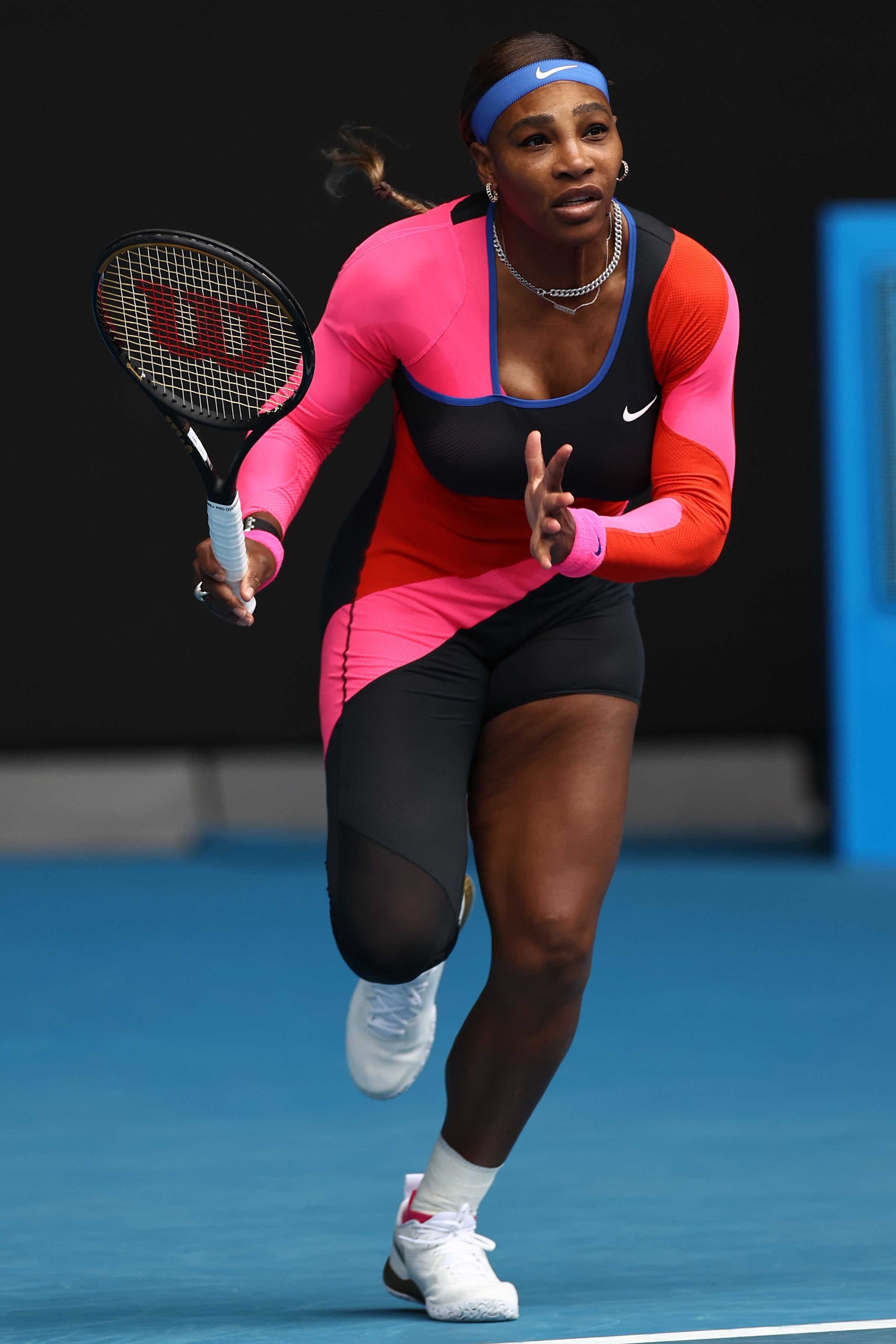Serena Williams Pays Tribute to Sports Champion Flo-Jo in an Asymmetric Tennis Unitard