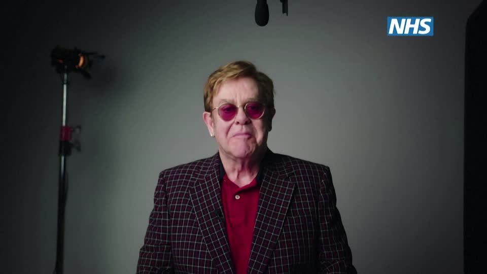 Michael caine and elton John team up for covid ad