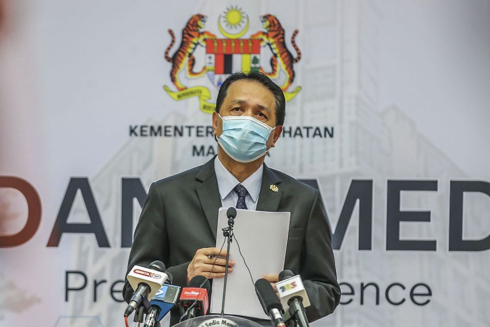 Dr Noor Hisham: National Covid-19 infectivity rate stays at around 0.9, Melaka and Labuan top