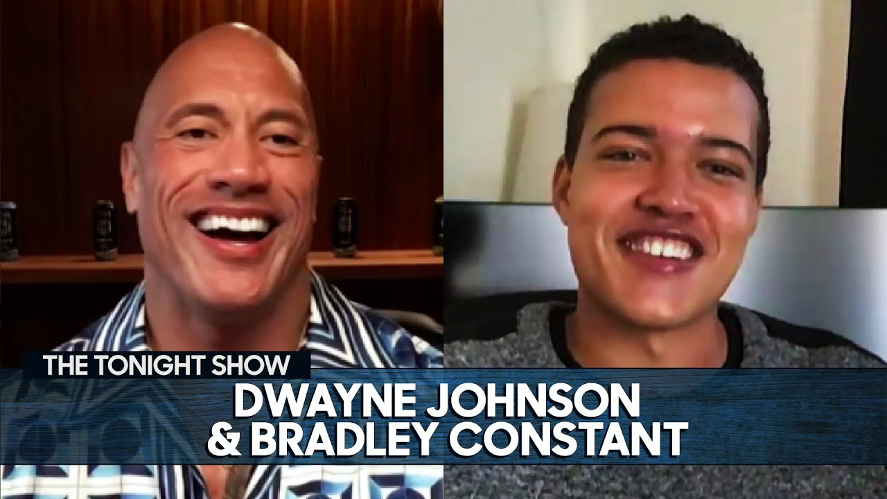 Dwayne Johnson Roasts Jimmy's Teenage Photos with Bradley Constant