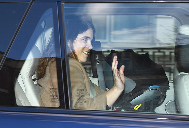 Princess Eugenie spotted leaving hospital with newborn baby boy