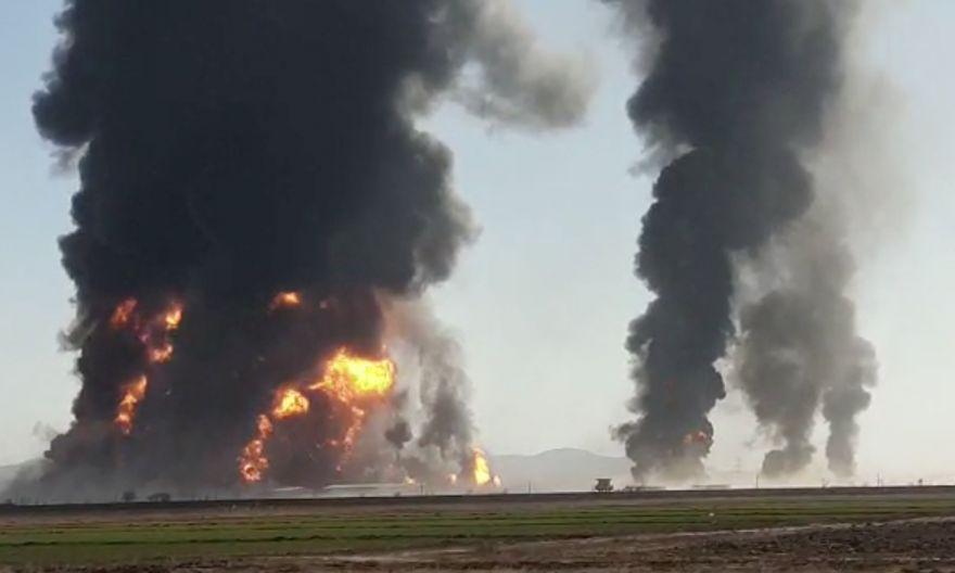 Dozens hurt by huge blaze close to Iran-Afghanistan border