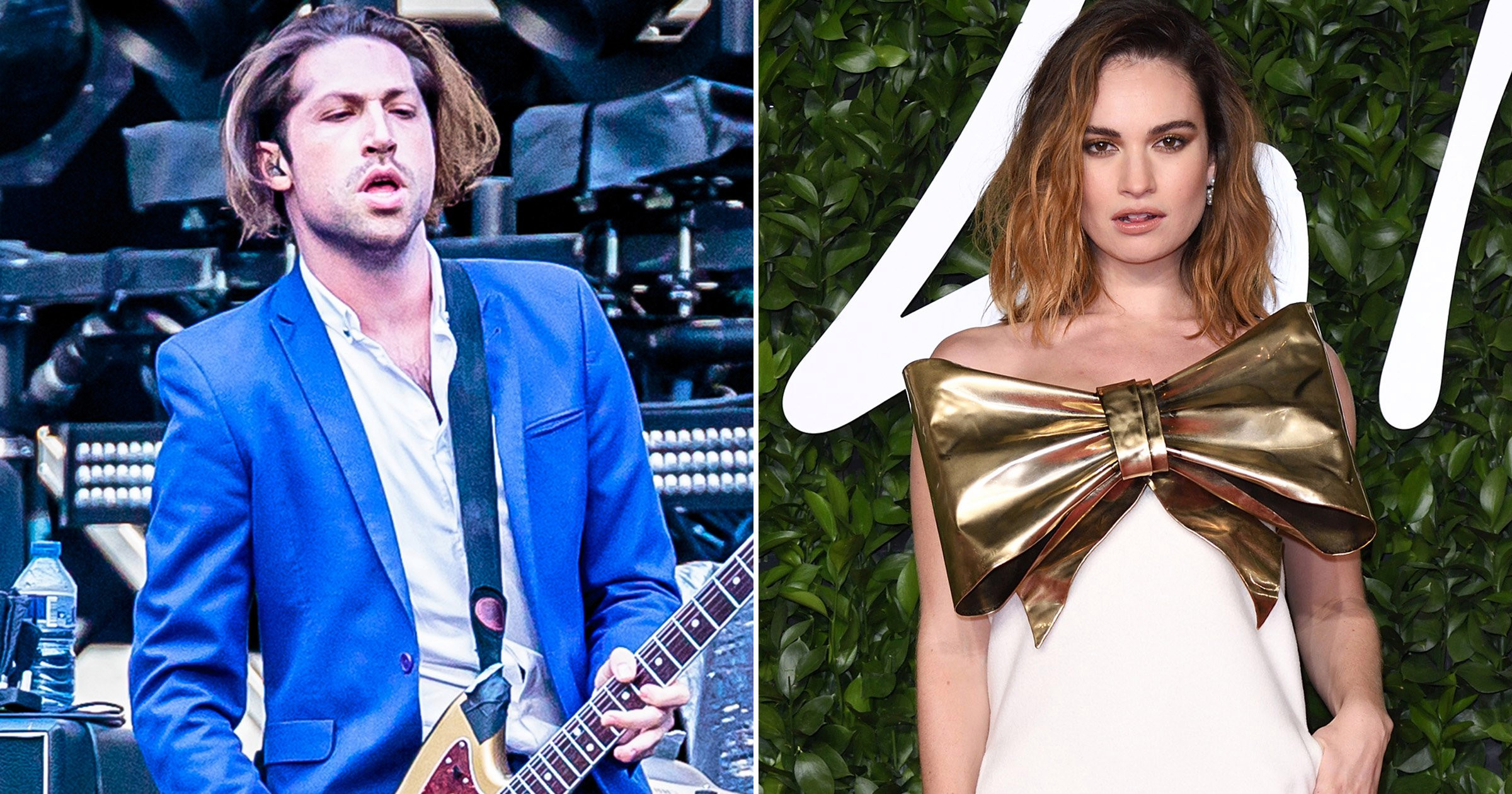 Lily James spotted 'kissing QOTSA musician Michael Shuman' after Dominic West scandal