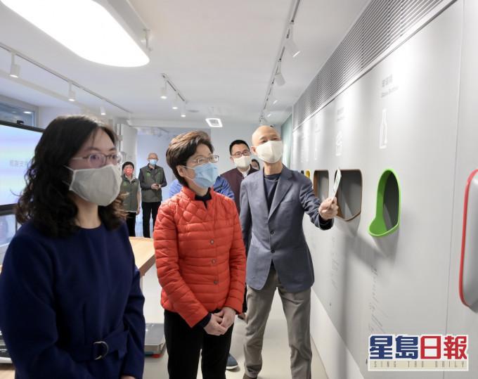 林郑月娥冀立法会早日通过都市固体废物收费条例草案