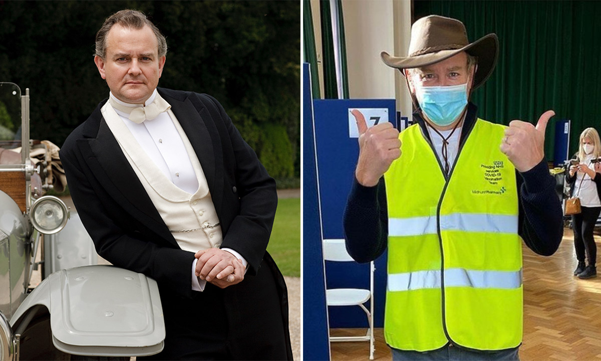 Downton Abbey star Hugh Bonneville is volunteering at vaccination centre