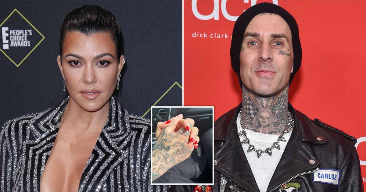 Kourtney Kardashian and Travis Barker finally make romance official with sweet snap as fans demand 'goth wedding'