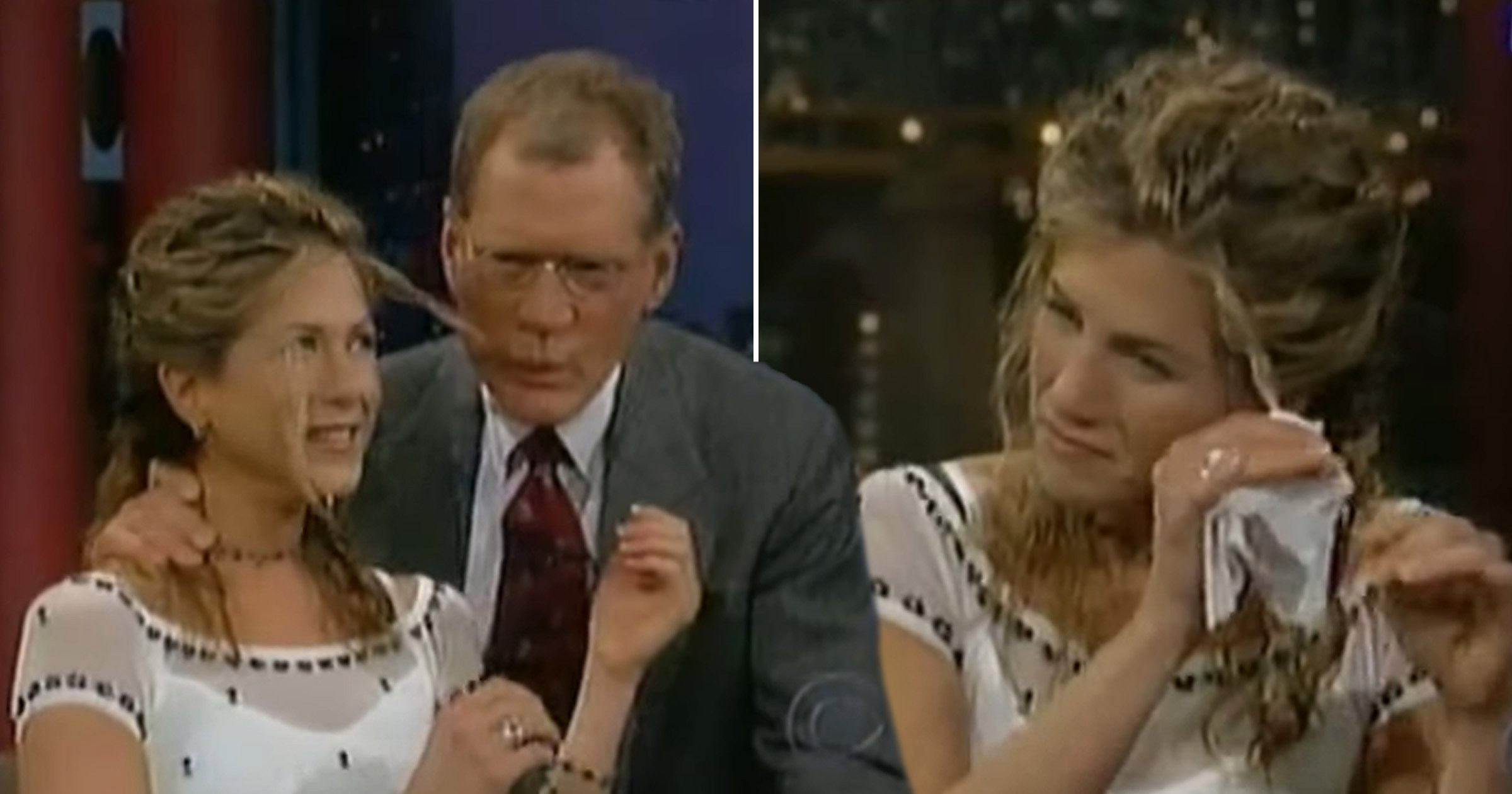 David Letterman branded 'sick' for sucking on Jennifer Aniston's hair in 'disturbing' interview