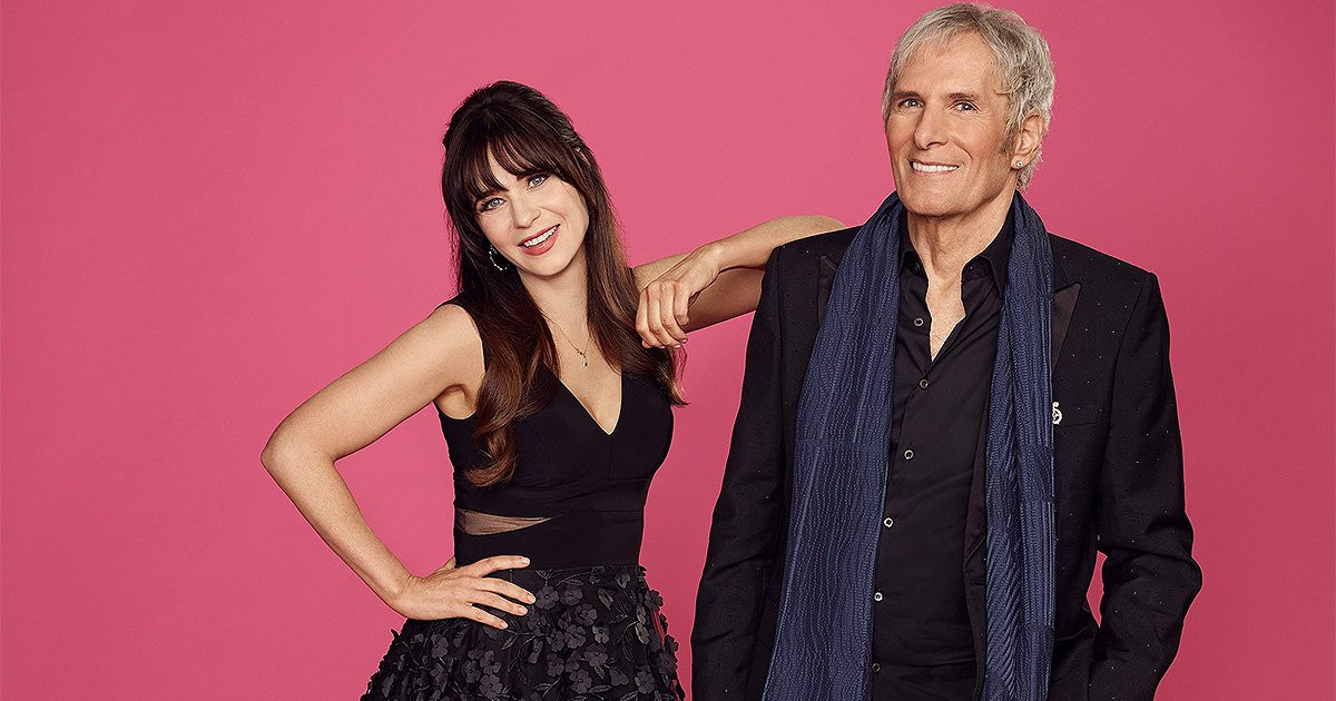 Zooey Deschanel and Michael Bolton to host Celebrity Dating Game and we're already obsessed
