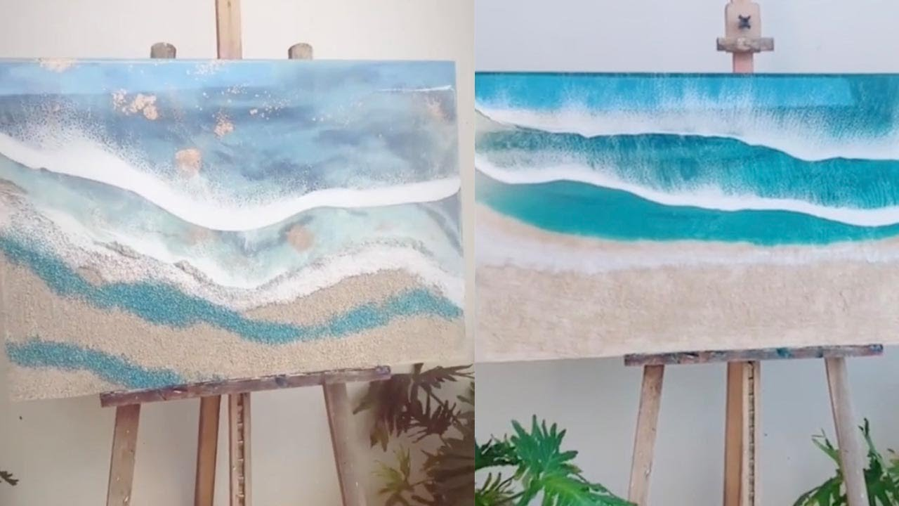 Artist Creates Stunning Beach Landscapes Using Resin