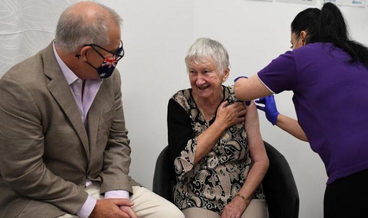澳洲启动接种计划 总理莫里森接种