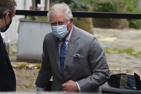 Prince Charles Visits His Father, Prince Philip, in London's King Edward VII Hospital