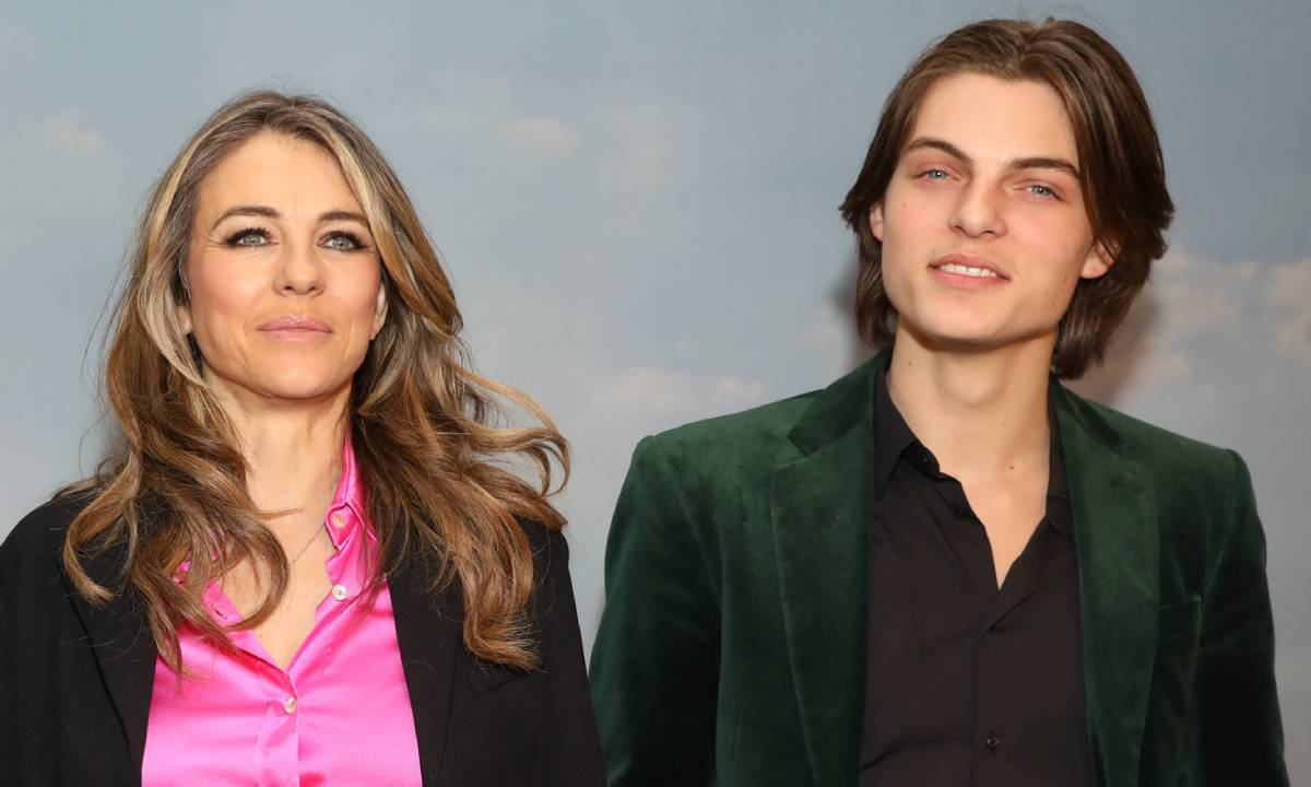 Elizabeth Hurley teases exciting news about son Damian in proud post