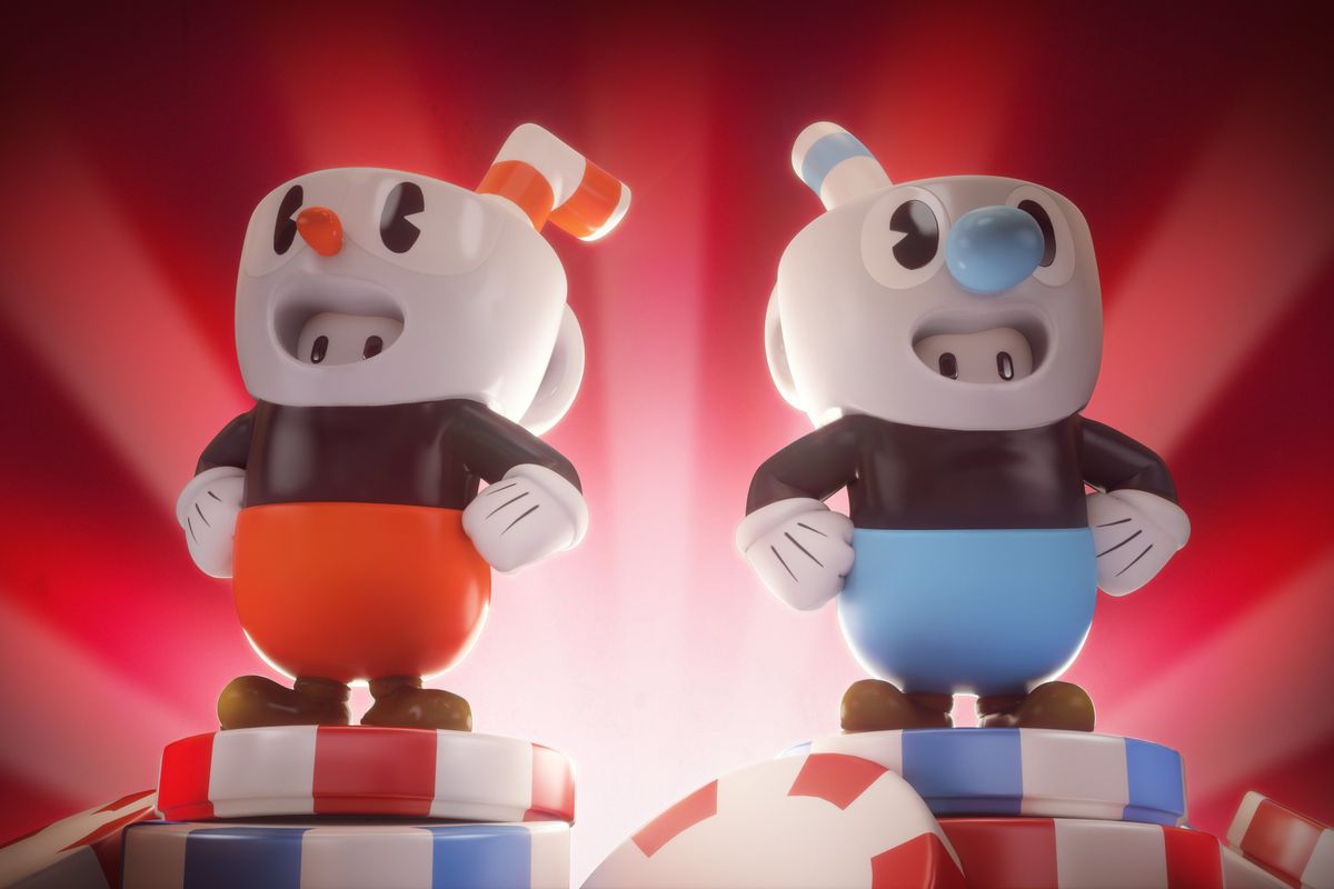 Cuphead and Mugman stumble into Fall Guys later this week
