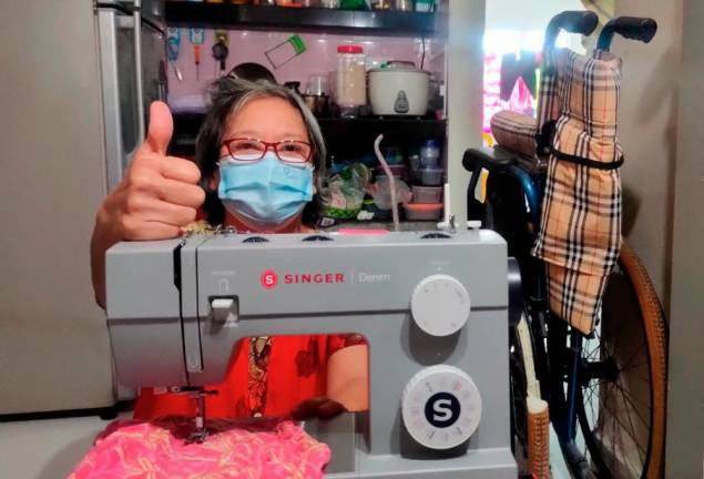 Polio survivor's wish for a sewing machine fulfilled