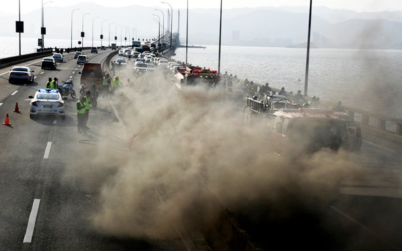 3 months for repairs, road closure likely after Penang Bridge fire