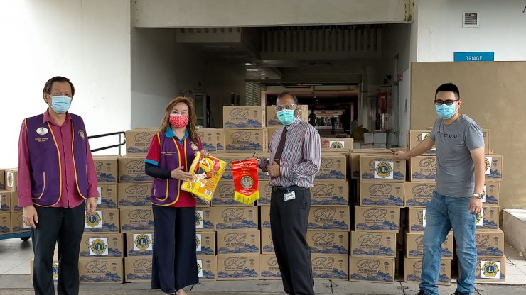 国际狮子会308 A2区2专区展开疫情救济活动