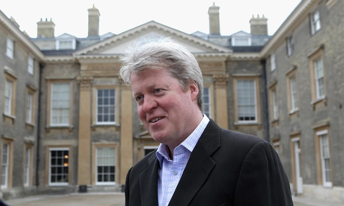 Charles Spencer shares photo in beautiful favourite room at Althorp House
