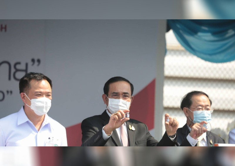 'Just a mock-up': Thai government clarifies photo of PM holding vaccine bottle amid criticism