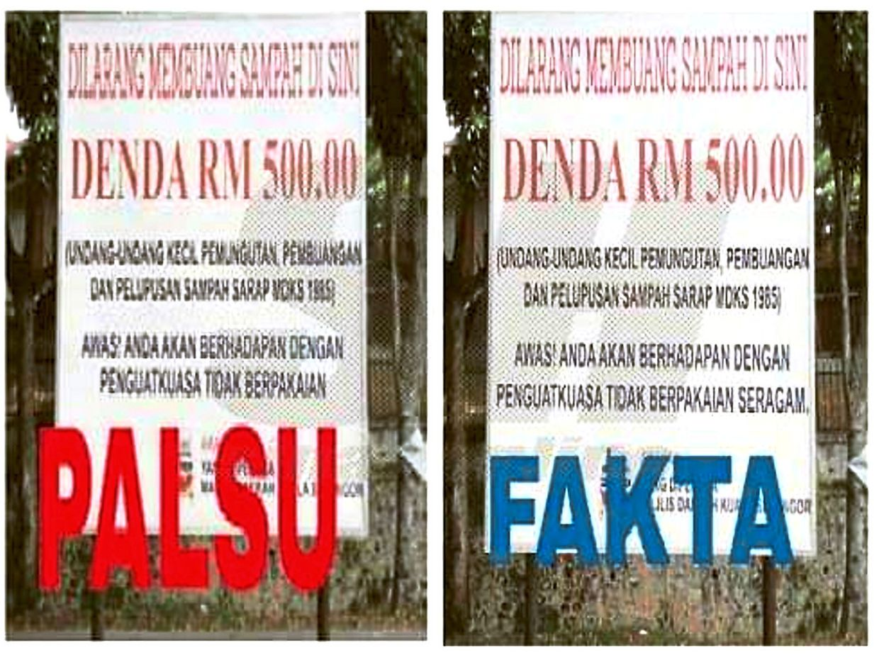Council wants firm action over viral photo of altered signboard