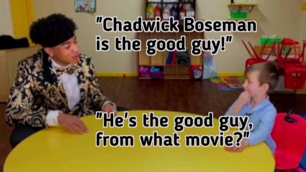 Golden Globes Pay Adorable Tribute to Chadwick Boseman During Interviews With School Kids