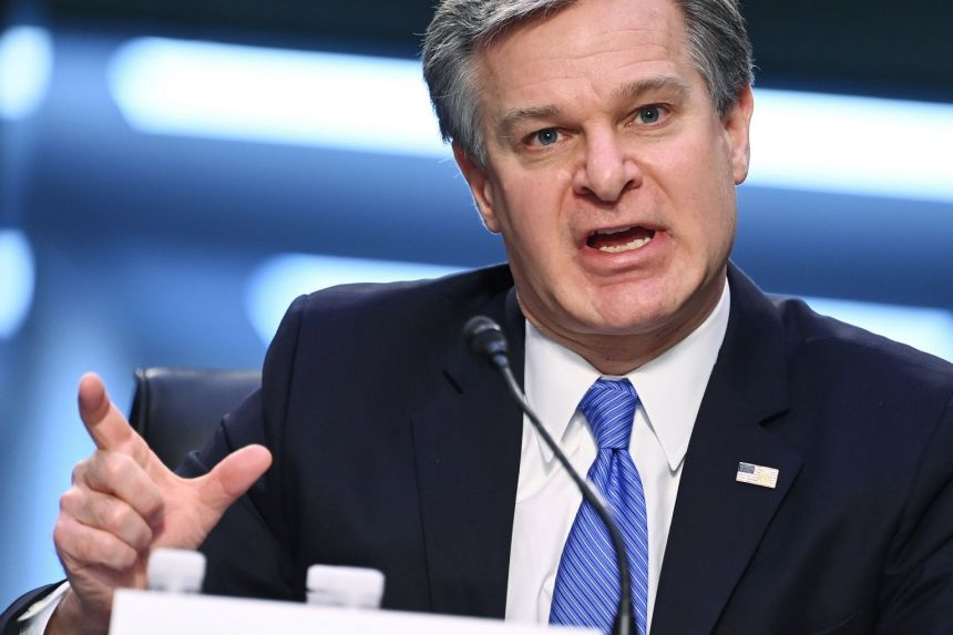 FBI director Christopher Wray dismisses theory left-wing groups had role in Capitol riot