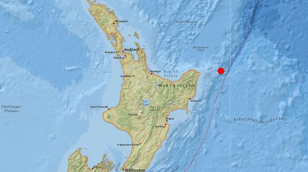 新西兰发生6.9级地震 当局发布海啸预警
