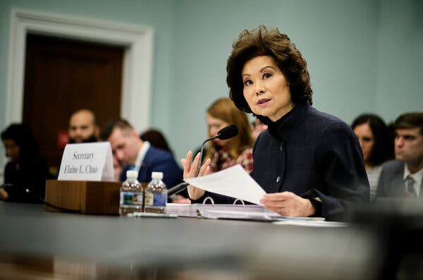 Inspector General's Report Cites Elaine Chao for Using Office to Help Family