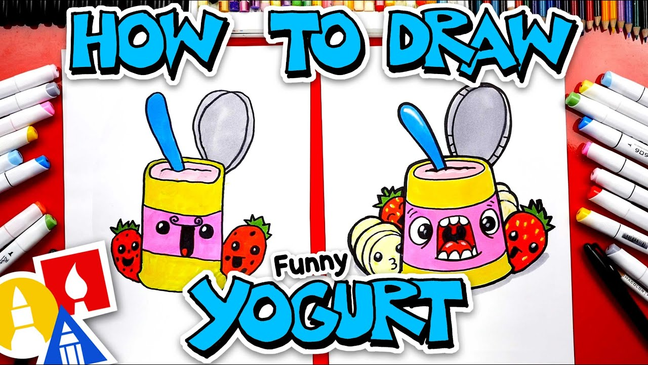 How To Draw Funny Yogurt