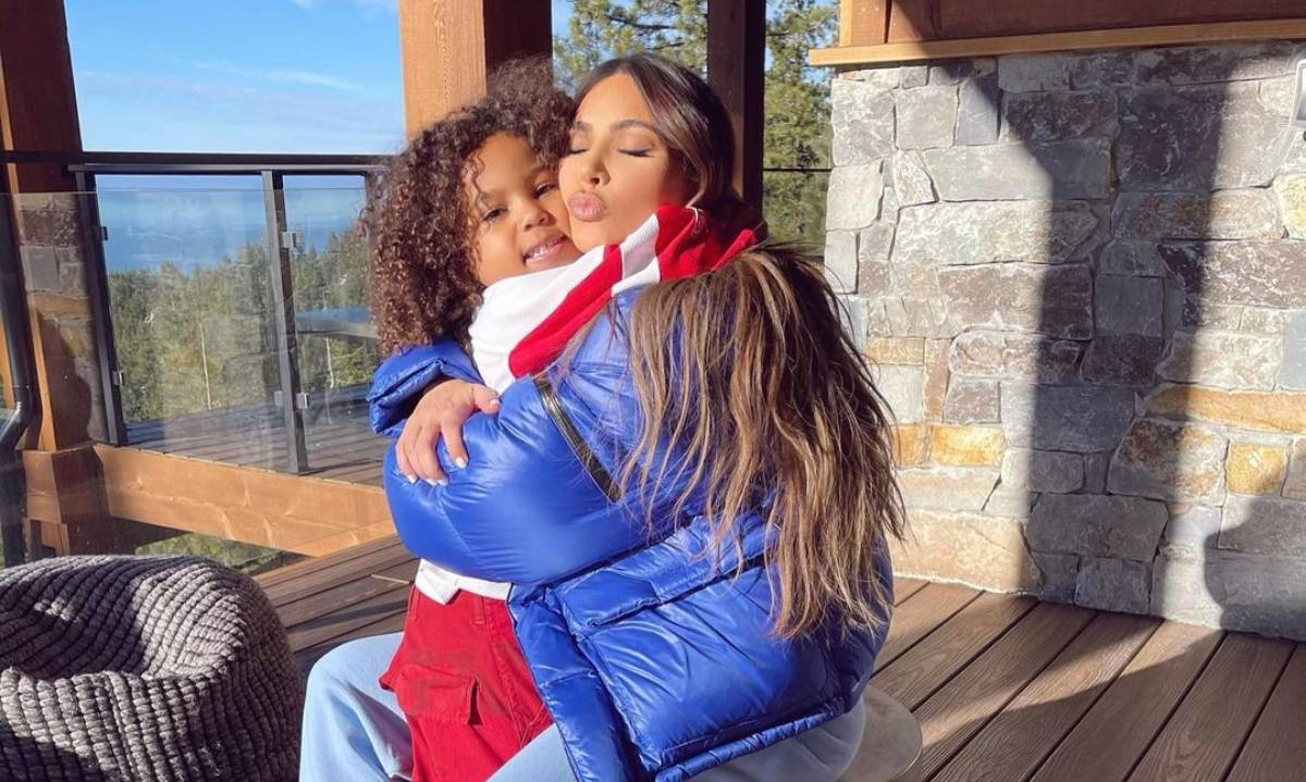 Kim Kardashian's new photo of son Saint leaves fans doing a double-take