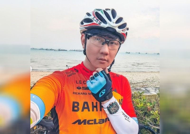 JJ Lin goes cycling in Singapore wearing limited edition watch worth $1m