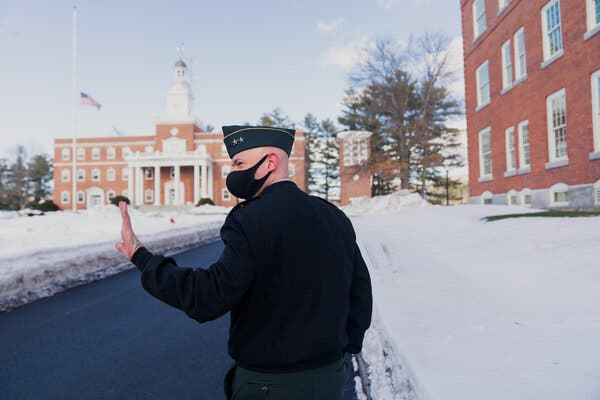 A college president wanted a firsthand look at dorm lockdown. Very firsthand.