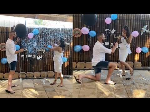Expectant Father Proposes At Gender Reveal Party