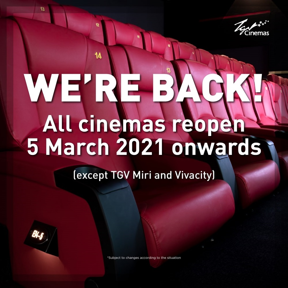 TGV Cinemas reopens with exciting movies, discounted tickets, and proper hygiene protocols amid CMCO, RMCO