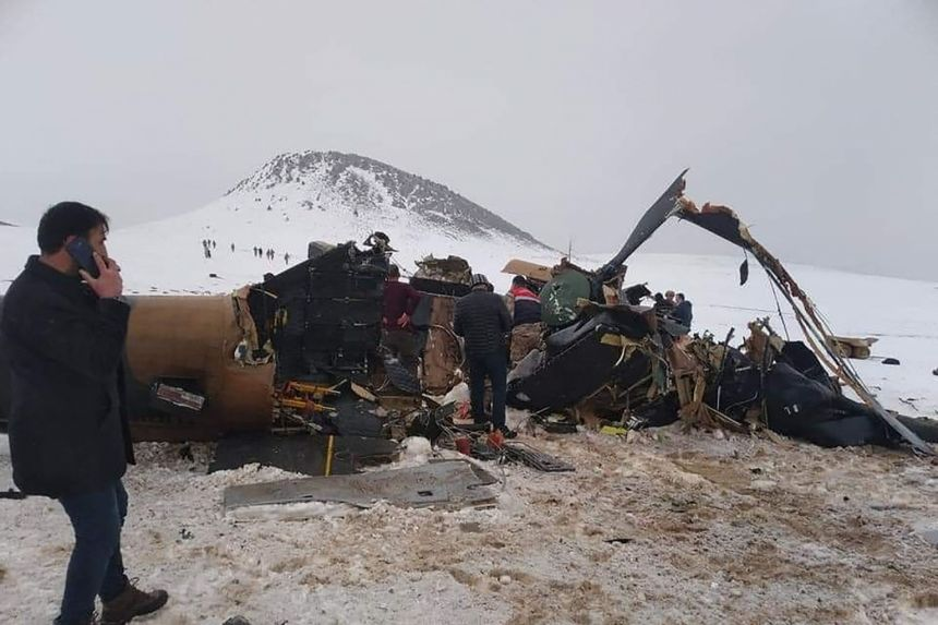 Turkey blames bad weather for deadly military helicopter crash