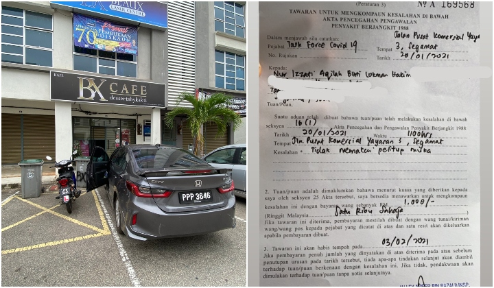 After Going Viral, Authorities Cancel RM1,000 Compound On Johor Cafe Owner For Being Maskless On Empty Street